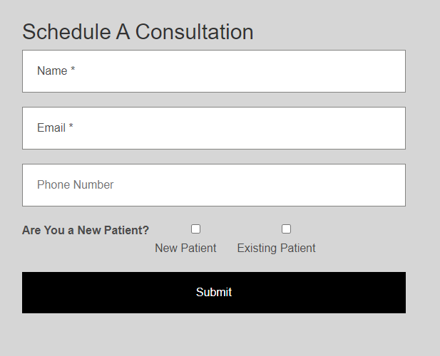 Schedule a consultation form
